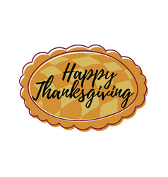 hand drawn happy thanksgiving typography in vector image