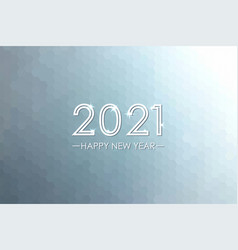 happy new year 2021 banner poster invitation vector image