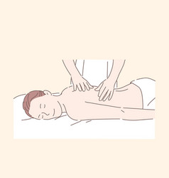 health massage spa treatment relax concept vector image