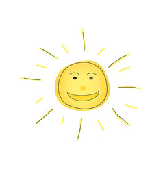 laughing sun on isolated background vector image