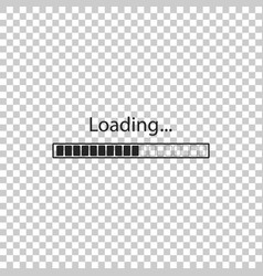 loading icon isolated progress bar icon vector image