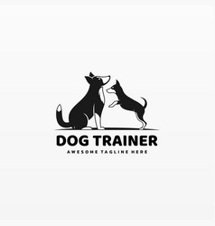Logo dog trainer simple mascot style vector