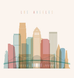 Los angeles state california skyline silhouette vector