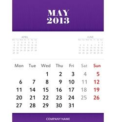 May 2013 calendar design vector