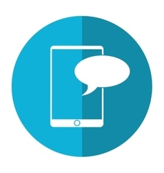 mobile device chat dialog design shadow vector image