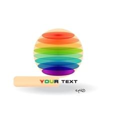 Multicolor abstract logo vector