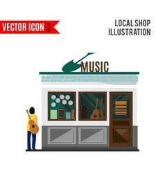 Music shop icon isolated on white background vector