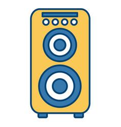 music speaker isolated vector image