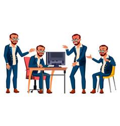office worker emotions gestures turkish vector image