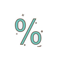 percentage icon design vector image