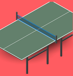 ping pong table is an isometric vector image