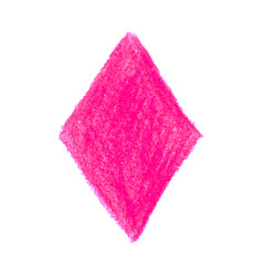 pink crayon scribble texture stain rhombus shape vector image
