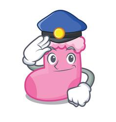 Police sock character cartoon style vector