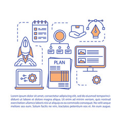 Prototype creation article page template vector