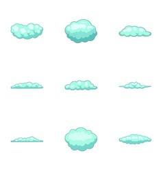 Puff icons set cartoon style vector