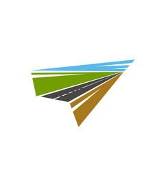 Road pathway highway icons path way asphalt vector
