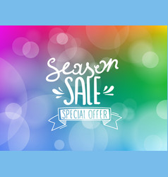 season sale inscription on blured background vector image