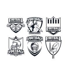 Set football championship vector