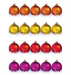 set of balls and snowflakes vector image