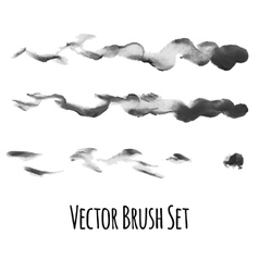 Set of brushes and traced elements vector image