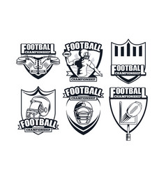 Set of football championship vector