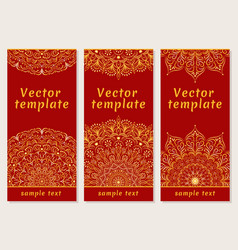 Set of templates for your design indian vector