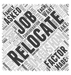 Should You Relocate If Asked By Your Employer Word vector image