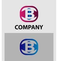 sign letter B vector image