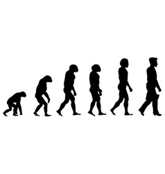 Silhouette progress man evolution vector