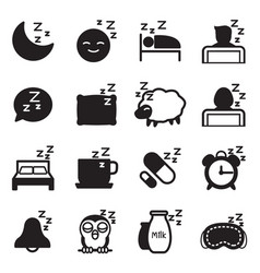 silhouette sleep icons vector image