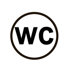 simple wc toilet sign on the door means entrance vector image
