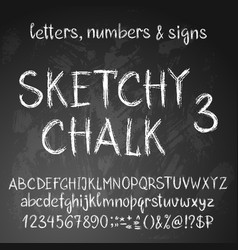 Sketchy english alphabet vector