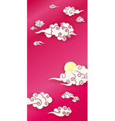 Sky with chinese clouds vector