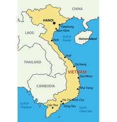 Socialist Republic of Vietnam - map vector image vector image