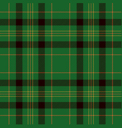 Tartan seamless pattern background black orange vector