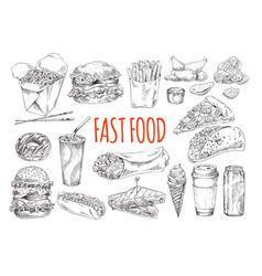 tasty fast food promotional monochrome poster vector image