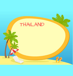 thailand touristic concept with copyspace vector image