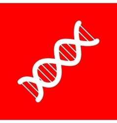 The DNA sign vector image