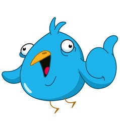 thumb up bird vector image vector image