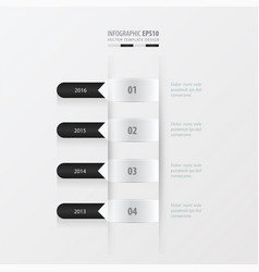 Timeline template black and white color vector