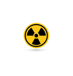 toxic icon radiation pictograph biohazard vector image