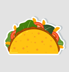 traditional mexican taco spicy delicious tacos vector image