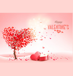valentines day holiday background with heart vector image