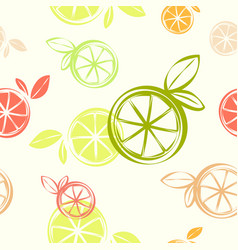 wallpaper citrus seamless pattern print textile vector image