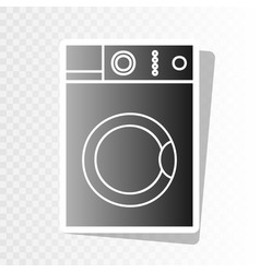 washing machine sign new year blackish vector image