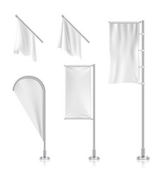 White blank banners advertising beach teardrop vector