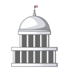 White house icon cartoon style vector