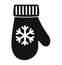 winter glove icon simple style vector image