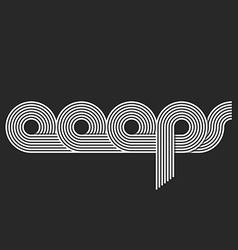 Word Ooops logo lettering offset line overlapping vector