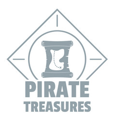 pirate logo simple gray style vector image